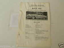 BUICK6-- ,BUICK 1955 SERIES 50,60,70 SUPER,CENTURY,ROADMASTER TECHNICAL INFO CAR