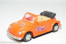 VW VOLKSWAGEN BEETLE KAFER CABRIOLET FLUOR ORANGE I LOVE YOU EXCELLENT