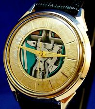 Bulova Accutron 214 Custom Spaceview SERVICED watch with new leather strap 1966
