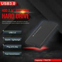 "2.5"" External 2TB Ultra Slim Hard Disk Drive USB 3.0 Data Transfer Portable HDD"