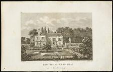1829 - Gravure Ermitage de J.J. Rousseau à Montmorency