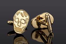 Alexander Mcqueen cufflinks Brass cuff links Mens gold jewelry Fashion accessory