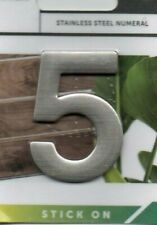 """SANDLEFORD - STAINLESS STEAL - """"5"""" - HOUSE/DOOR/GATE NUMBERS - FREE UK POSTAGE"""