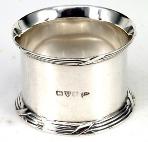 EDWARDIAN SILVER NAPKIN RING CHESTER 1906 HALLMARKED STERLING BY WALKER & HALL