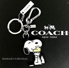 COACH X Peanuts Limited Edition SNOOPY & WOODSTOCK Key Chain Bag Charm NWT