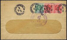 1919 Nigeria 1d x 2 and 1/2d Igbein Hill via Lagos to Chicago