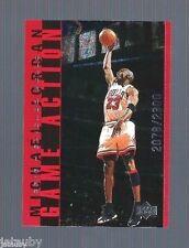 MICHAEL JORDAN 1998 UPPER DECK LIVING LEGEND GAME ACTION INSERT CARD G22 #d/2300