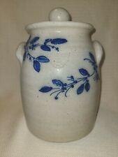 Salmon Falls Salt Glazed Stoneware Crock with lid 2001