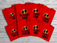 Incredible Family Matching Christmas Tees matching CUTE T-Shirts S-5XL