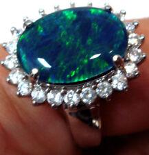 Black Sterling Silver Triplet Opals Fine Jewellery