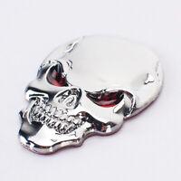 Silver Unique 3D Metal Skull Bone Car Auto Decor Emblem Badge Car Decal Sticker~