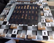 Italfama Chess Set with Triple laminated glass Large Round Board Quality item