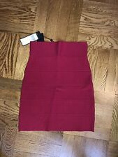bcbg max azria bandage skirt- new- red- size small
