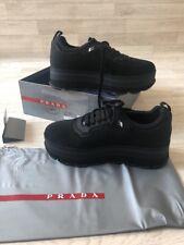 Prada Trainers Ladies Prada Boots UK4 EU37 Black Prada Lurex Tech Shoes Chunky