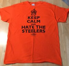 88707f28 Cincinnati Bengals Fan Keep Calm and Hate the Steelers T-Shirt Large