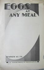 Eggs at Any Meal US Department of Agriculture 1931 Leaflet No. 39