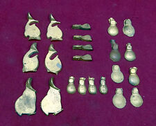 Lot of 22 Cast Brass Powder Flask Parts, US Peace, American Cap and Flask etc.