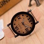 Roman Numerals Fashion Women Watch Burlywood Leather Analog Quartz Wrist Watches