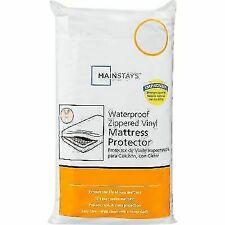 Mainstays Waterproof Zippered Vinyl Twin Mattress Protector - White