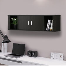 Wall Mount Cabinet Floating Hutch Storage Home Office Living Room College Dorm
