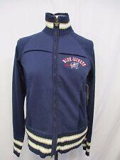 Columbus Blue Jackets Women XL Touch by Alyssa Milano Full Zip Cotton Sweater