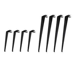 4x Tischbeine Hairpin Legs Schwarz Metall Esstisch Schreibtisch Haarnadel Kufen