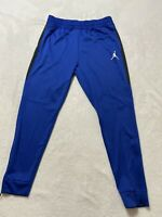 JORDAN FLEECE TAPERED PANTS THERMA FIT MEN'S SZ Large FITTED Blue
