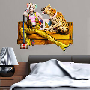 Harley Quinn and Hyena in Birds of Prey Wall Sticker Decal Kids Bedroom Art