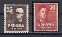 X813/ SPAIN – AIRMAIL – EDIFIL # 1015 / 1016 COMPLETE MINT MH – CV 300 $