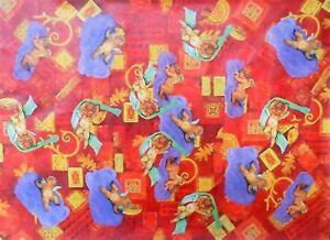 Schöner Decoupage Soft Papier Bogen Viele Antike Engel 50 x 70 cm