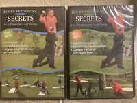Roger Frederick's Reveals Golf Swing Secrets 2 DVDs Set Power And Fundamentals