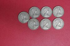 Lot of 7 Australia Australian  10 cents 1968 (MG91/C2)