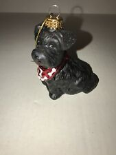 Christmas Robert Stanley Collection Glass Ornament - Black Scottish Terrier Dog