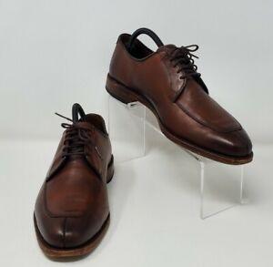 """Allen Edmonds """"Delray"""" Split-Toe Lace-Up Oxford Dress Shoes Brown Men's Size 8E"""