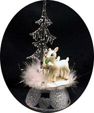 Rudolf Reindeer Winter Wonderland Wedding Cake Topper Christmas Clarice Porcelai