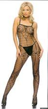 Leg Avenue Sheer spider web open crotch bodystockings