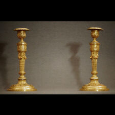 PAIRE DE FLAMBEAUX DE STYLE LOUIS XVI XIXème - PAIR OF LOUIS XVI STYLE TORCHES