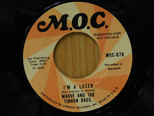 Marve and the Tinnon Bros. 45 I'M A LOSER / CANDY MAN ~ MOC VG+ blues rock