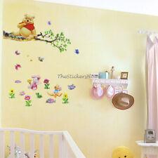 2PCS WINNIE THE POOH Baby Kids Nursery Wall Art Deco Mural Sticker Home Decor