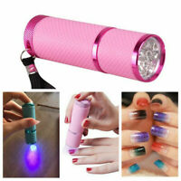 Flash Light Mini LED UV Gel Curing Lamp Professional Portable Fast Nail Dryer,9W