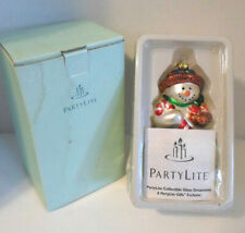 PartyLite Snowbell Mom Retired Blown Glass Ornament P7632 With Box