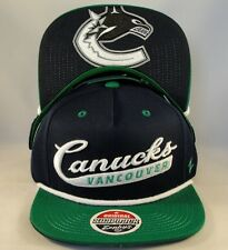Vancouver Canucks NHL Zephyr Snapback Hat Cap Sweep Navy Green