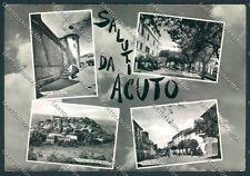Frosinone Acuto Saluti PIEGHINE Foto FG cartolina D5346 SZD