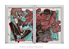 WOMEN OF MARVEL SERIES 2 SPIDERMAN WOMAN AND RED HULK PUZZLE SKETCH RMH