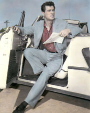 """ROCK HUDSON HOLLYWOOD FILM & TELEVISION ACTOR 8x10"""" HAND COLOR TINTED PHOTOGRAPH"""