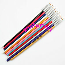 12 pcs Colorful Nail Art Design Pens For Fine Details Tips Drawing Brushes