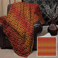 Large Warm Sofa Fleece Throw Bats Halloween Orange Soft Bed Blanket Chair Gift