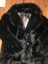 Oakwood Jacke Mantel Fake FUR Schwarz Black 38 M NWT