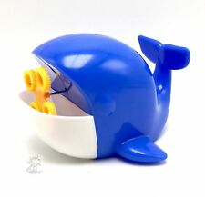 Bubble Blowing Machine Whale 4 Wand Battery Operated New