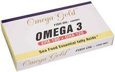 Omega Gold - Omega 3 - Fish oil 1000 mg- EPA 180/ DHA 120 - 90 SOFTGEL- Capsules